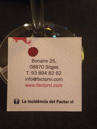 La Incidencia Del Factor Vi : Great place in Sitges