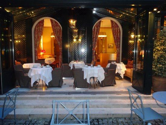 Hotel de l'Abbaye Saint-Germain: Dinning area