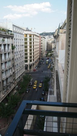 Hotel Parnon: the view from the 7th floor