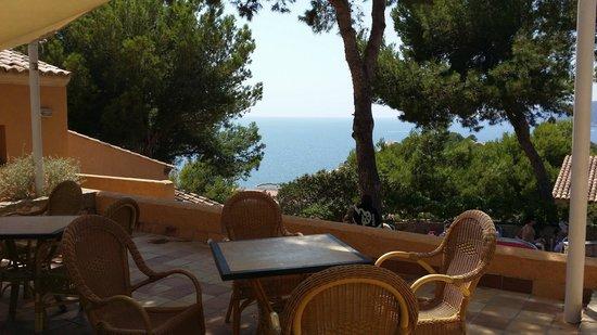 Club Santa Ponsa: Terrasse restaurant