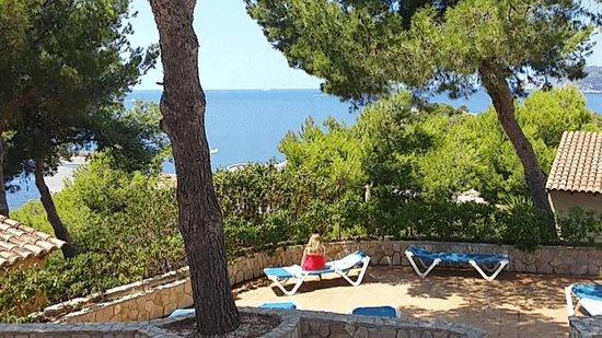 Club Santa Ponsa : Depuis la plage de la seconde piscine