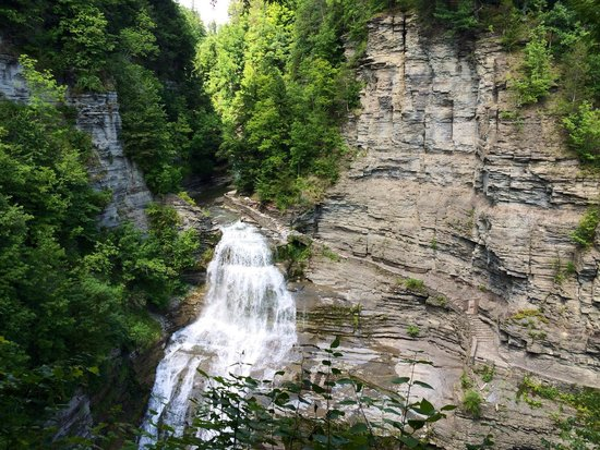 Robert Treman State Park: The trail on the right of the falls is closed.