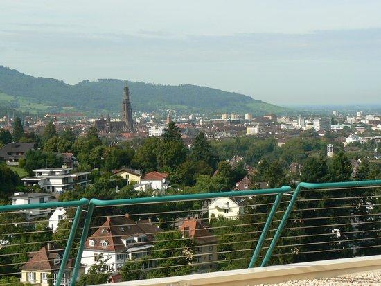 Mercure Hotel Panorama Freiburg: Vue de face de la terrasse de la chambre