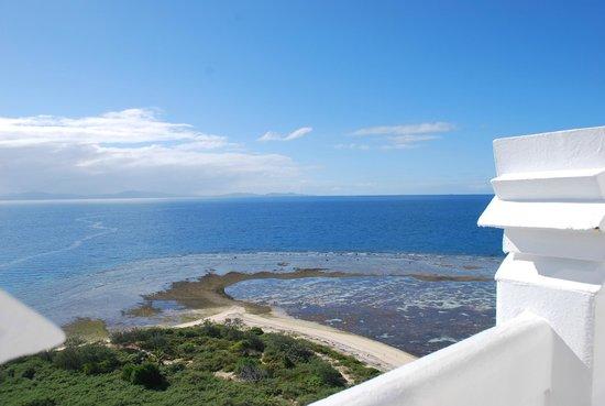 Isla del faro Amedee: tout en haut du phare......