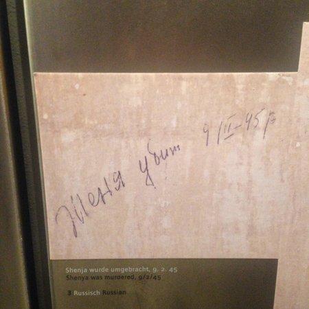 National Socialism Documentation Center: Надписи, оставленные на стенах камер