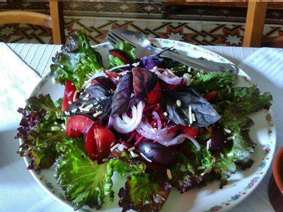 Agriturismo Dongili: Le meravigliose insalate con basilico rosso