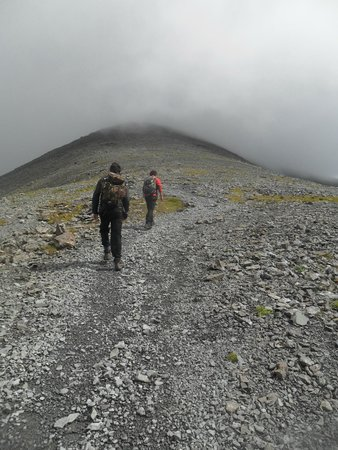 Ben More: Approaching the scree field