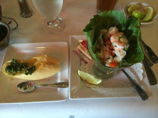 Los Ranchos Steakhouse: Shrimp ceviche