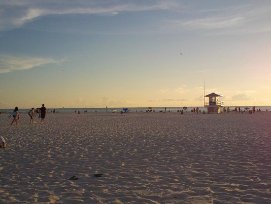 Clearwater Beach Hotel: Beach at the pier at night/dusk