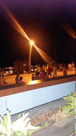 Dom Jose Beach Hotel: night time view from bar patio
