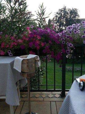 Grand Hotel Villa Castagnola: Terrasse Dinner