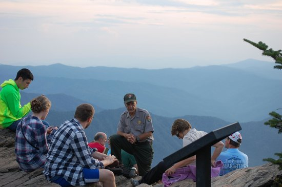 LeConte Lodge: Great Smoky Mountain National Park history lesson, view from Cliff Tops in the background