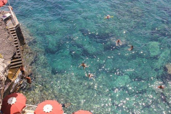 Vista dall 39 alto del lido bagno marino archi foto di bagno marino archi santa cesarea terme - Bagno marino archi pizzeria ...