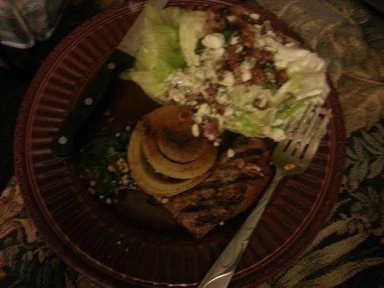 Applebee's: My poor wedge salad - maybe leaving the dressing off...no, nothing would have helped this mess!