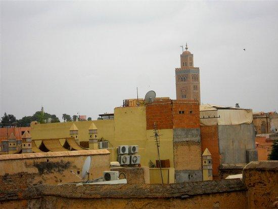 Koutoubia Mosque and Minaret: Aperçue des terrasses
