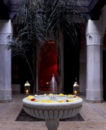 Dar Les Cigognes: fountain