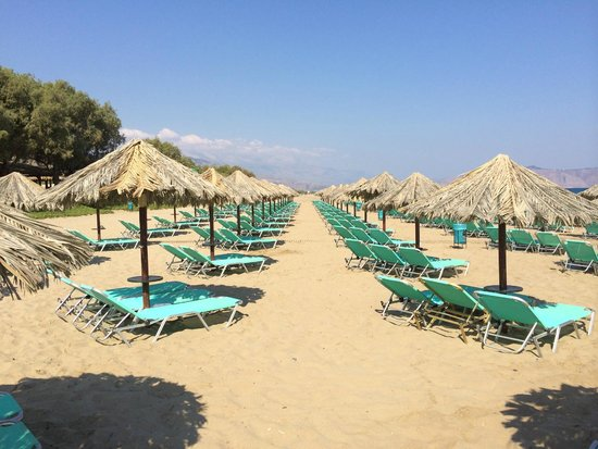 Episkopi, Greece: Palm Leaf parasols
