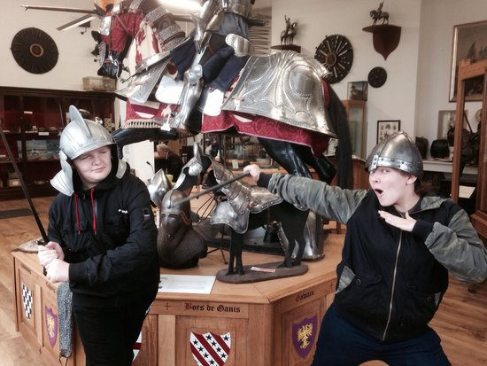 Stratford Armouries Museum: Action heroes Kaili and Joshua
