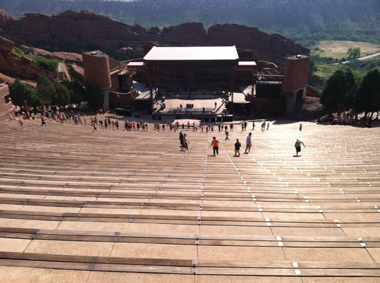 Red Rocks Park and Amphitheatre: From the top looking down toward the stage