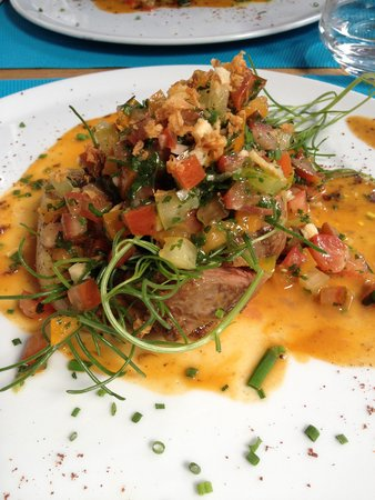 Le Dix-Huitieme: Lamb, Main course of lunch course menu