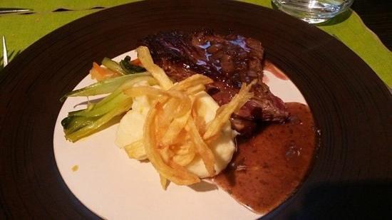 Le Restaurant L'O a la Bouche : bavette a l echalotte