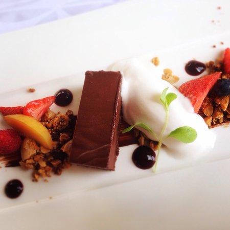 Restaurant Salzhaus: Schokolade /Kokosnuss / Beeren