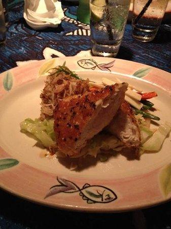 Mama's Fish House : Ono with Kalua Pork Fried Rice