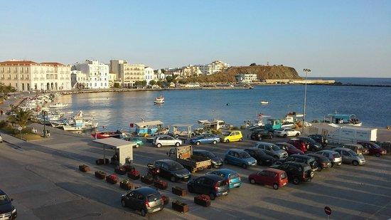 Poseidonio Hotel: old port from room 212