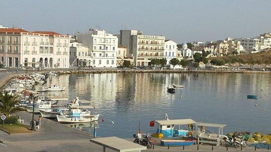 Poseidonio Hotel: evening sunshine