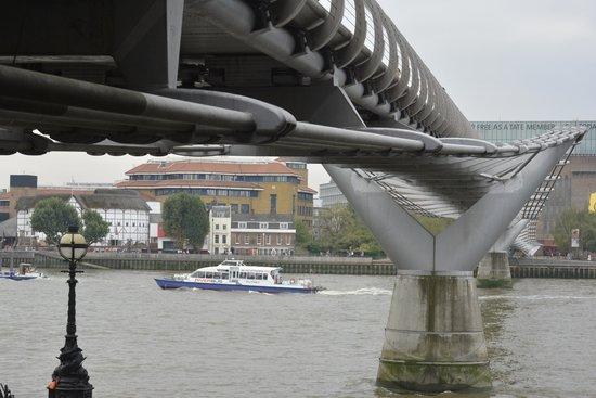 Millennium Bridge with the Globe