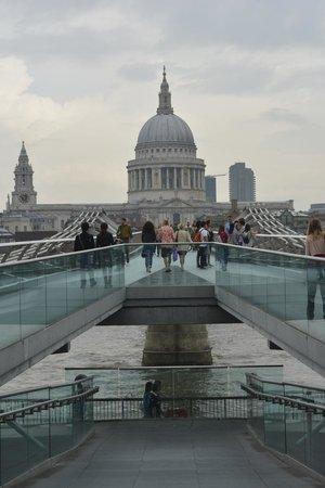 Millennium Bridge : St Paul's from the South Bank