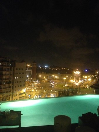 B-Hotel: view from the terrace at night