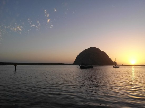 Morro Bay Sandpiper Inn : The Rock from the Embarcadero at sunset