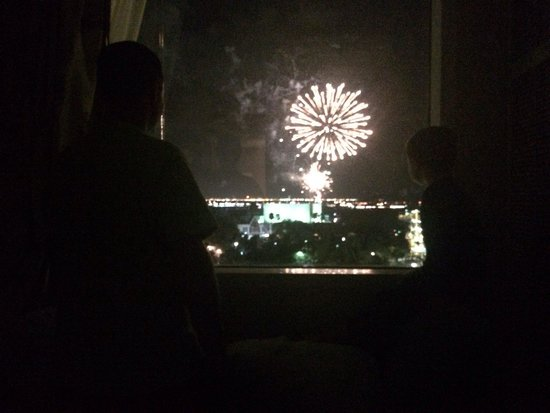 Moody Gardens Hotel Spa & Convention Center : Fireworks from our room