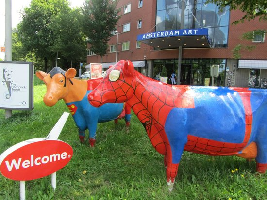 WestCord Art Hotel Amsterdam: Road side cows!