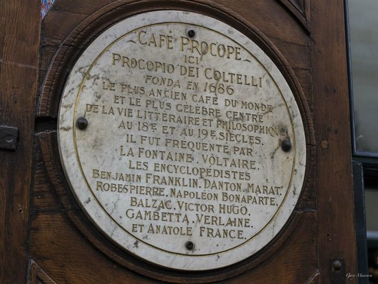 Le Procope: Cafe Procope sign