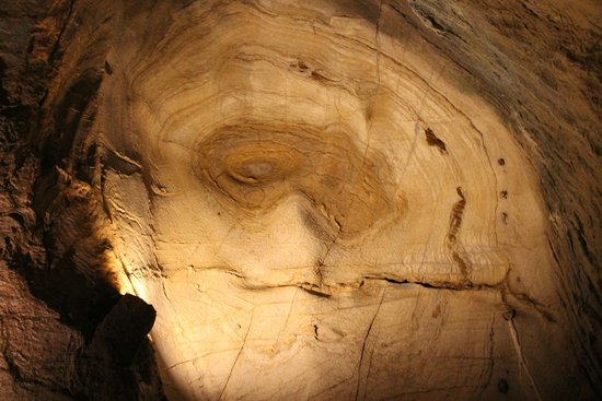 Bristol Caverns: A face in the ceiling