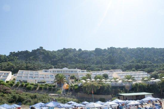 Mayor Pelekas Monastery : View from the beach