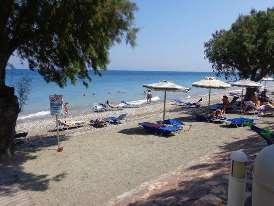 Electra Palace Rhodes: Пляж