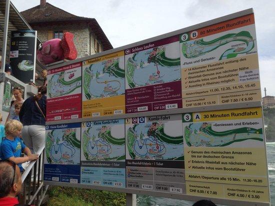 Rhine Falls : Options for boat ride