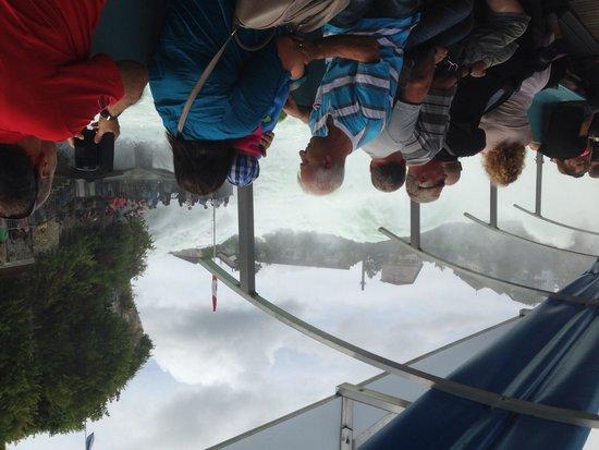 Rhine Falls : View inside boat