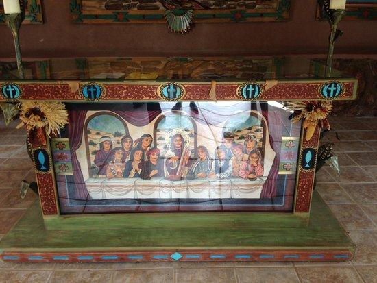 El Santuario de Chimayo: Insie the semi-indoor/outdoor area
