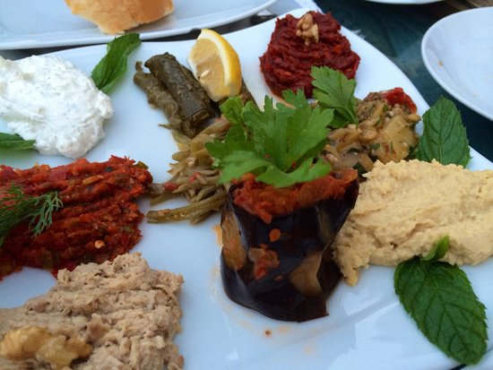 Meze platter for appetiser picture of seten anatolian for Anatolian cuisine