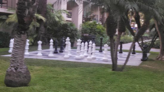Hyatt Regency Newport Beach: The giant chess set was a favorite of the kids and adults