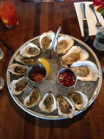 Matunuck Oyster Bar: Three varieties of locally harvested oysters in this dozen!