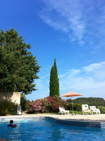 Bastide Les Aliberts: lounging by the pool