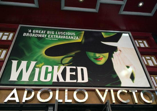 Wicked the Musical: Sign above the theater entrance