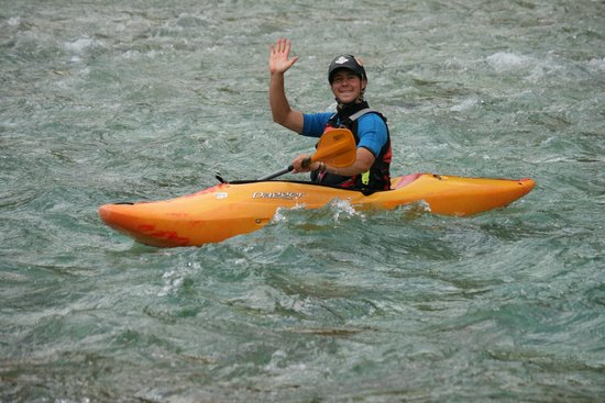 SPORT MIX : Hydrospeed: my great instructor Peter, along the Isonzo (Soča) River *****