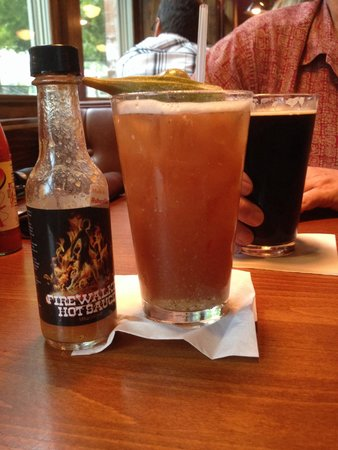 Pack's Tavern: Yummy spicy Bloody Mary!