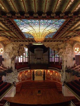 Palais de la Musique Catalane (Palau de la Musica Catalana) : Palco!